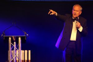 Gyles Brandreth host of Courier business awards