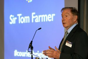 Tom Farmer speaks at The Courier Business Briefings
